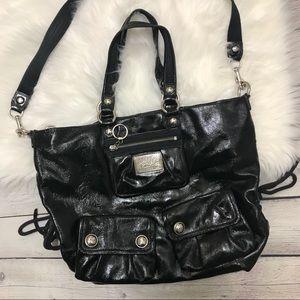 Coach Poppy Black Leather Bag